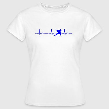 ECG HEART LINE DANCING blue - Women's T-Shirt
