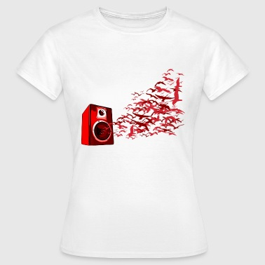 Speaker Birds DJ - Women's T-Shirt