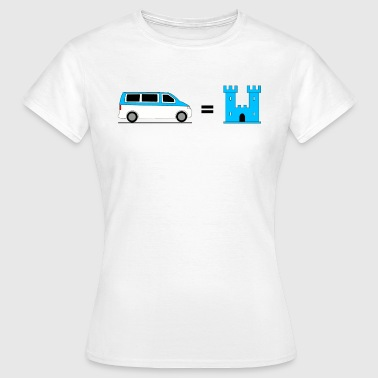 My Bus is my Castle - Blau - Frauen T-Shirt