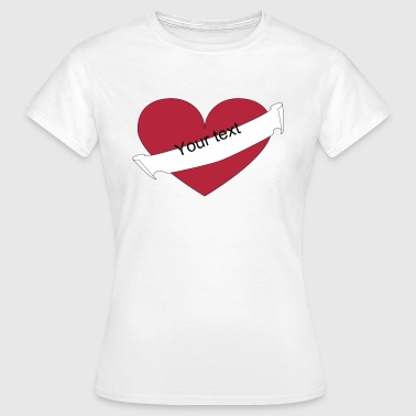 Heart your text diagonal - T-shirt Femme