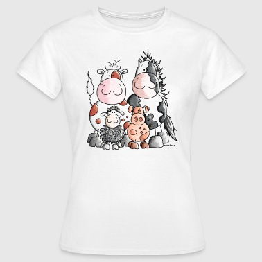 Funny Farm Animals - Women's T-Shirt