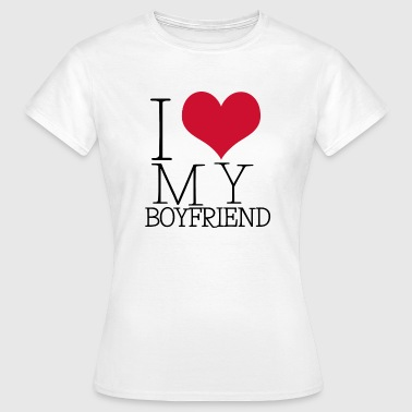 i love my boy - Dame-T-shirt