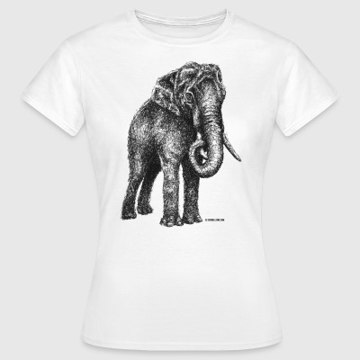 Scribbled Elephant - Frauen T-Shirt