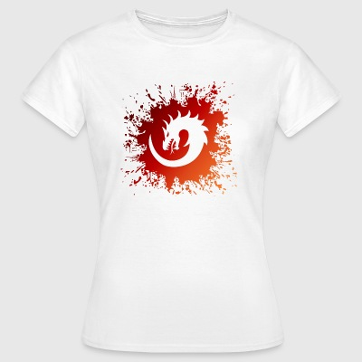 Drage Splash Swirl - Dame-T-shirt
