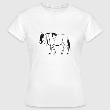 Pictogram of Wildebeest - Women's T-Shirt