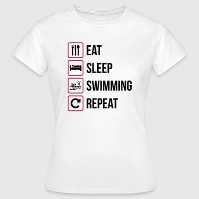 Eat Sleep Nuoto Repeat - Maglietta da donna