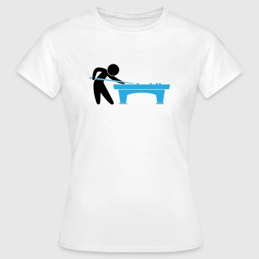 A pool player is on the pool table - Women's T-Shirt