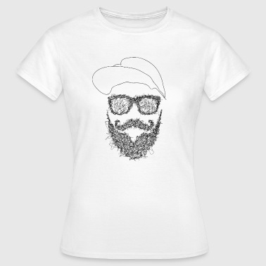 Hipster Scribble - Dame-T-shirt