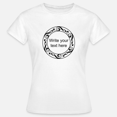 Viool Music notes violin clef frame YOUR TEXT - Vrouwen T-shirt