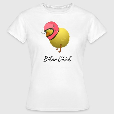 Biker Chick Humourous Cartoon - Women's T-Shirt