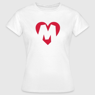 Heart M - I love M - Women's T-Shirt