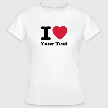 I love / I heart DELUXE - Dame-T-shirt