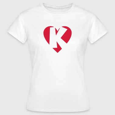 Heart K - I love K - Women's T-Shirt