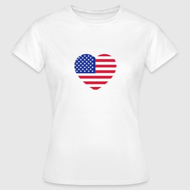 america heart - Frauen T-Shirt