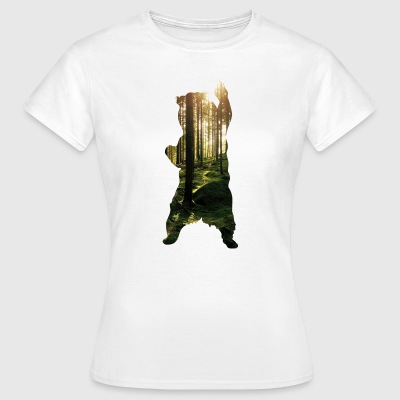 Bear Forest Bild - T-shirt dam