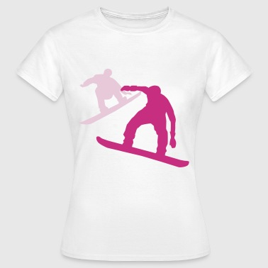 to snowboarder - Dame-T-shirt