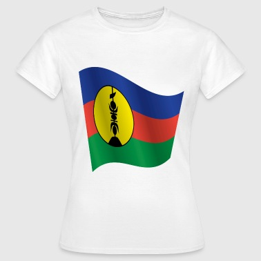 Waving Flag of New Caledonia - Women's T-Shirt
