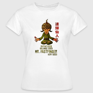Mr. Fastfinger - cartoon guitar hero - Women's T-Shirt