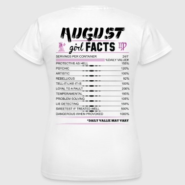 August Girl Facts Virgo - Women's T-Shirt