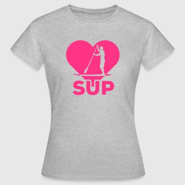 Standing paddlers SUP Paddle Sports water sports summer - Women's T-Shirt