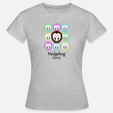 Hedgehog Hedgehog Kawaii Cute Hedgehogs Pastel Family Pet - Frauen T-Shirt
