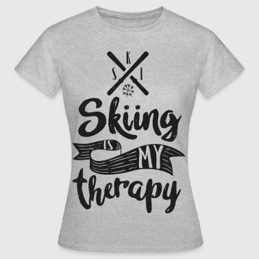 skiing is my therapy - Frauen T-Shirt