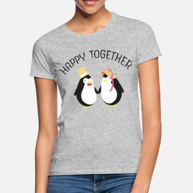 Couple Happy Together | Cute Penguin Couple - Vrouwen T-shirt