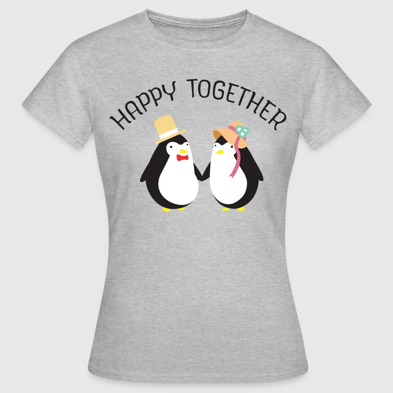 Happy Together | Cute Penguin Couple - Women's T-Shirt