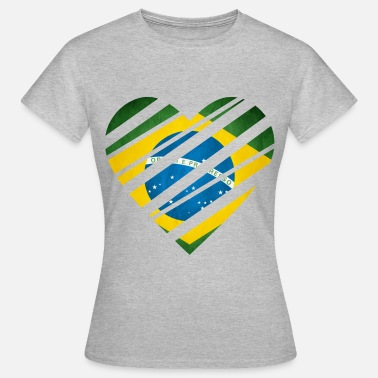 Brazil Heart - Women's T-Shirt