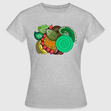 Coloured Leaf Mandala - Women's T-Shirt
