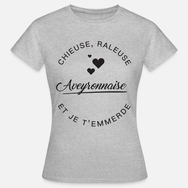 Aveyron T-shirts - Aveyronnaise Chieuse - T-shirt Femme gris chiné