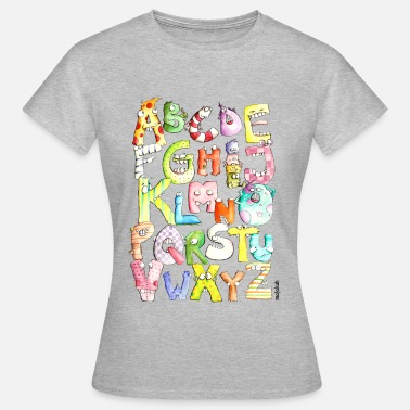 Monster Initial Monster alphabet - Women's T-Shirt