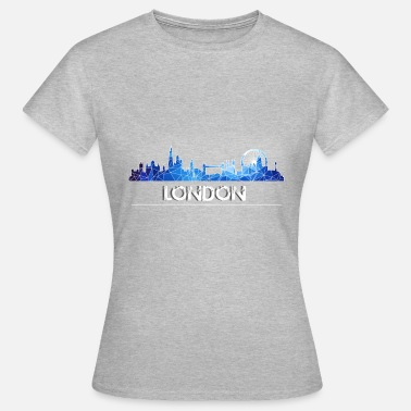 Skyline London skyline in blue - Women's T-Shirt