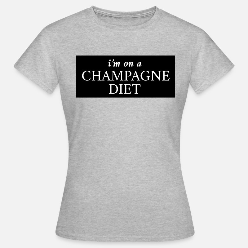 Champagne T-Shirts - I'm on a champagne diet - Women's T-Shirt heather grey
