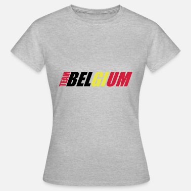 Shoot Jersey belgium belgium text WM 3 friends team club schn - Women's T-Shirt