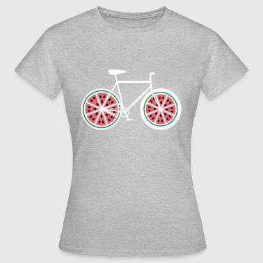 Monovitesse Watermelon Bicycle - Vélo, vélo, vélo de route, Fixie - T-shirt Femme