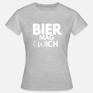 Cheesehead BEER likes me and beer I like - Women's T-Shirt
