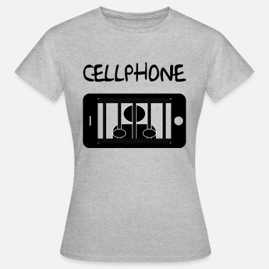 Mobile Cell Phone Mobile cell jail and detainee - Women's T-Shirt
