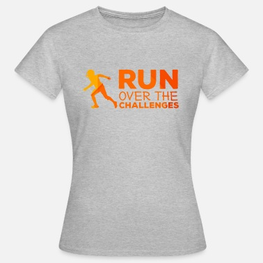 49ers Football: Run over the challenges - Frauen T-Shirt