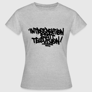 Television Introspectie plaats Television - Vrouwen T-shirt