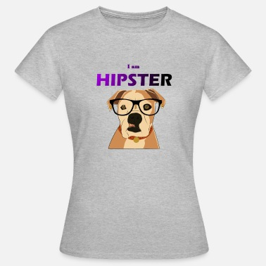Anti Hipster Hipster bulldog with an anti cool glasses - Women's T-Shirt