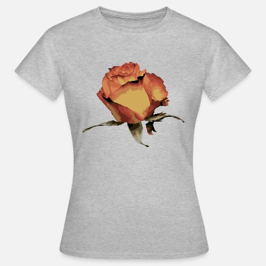 Blooming Blooming Rose Plant Romantic Prachtige natuur - Vrouwen T-shirt