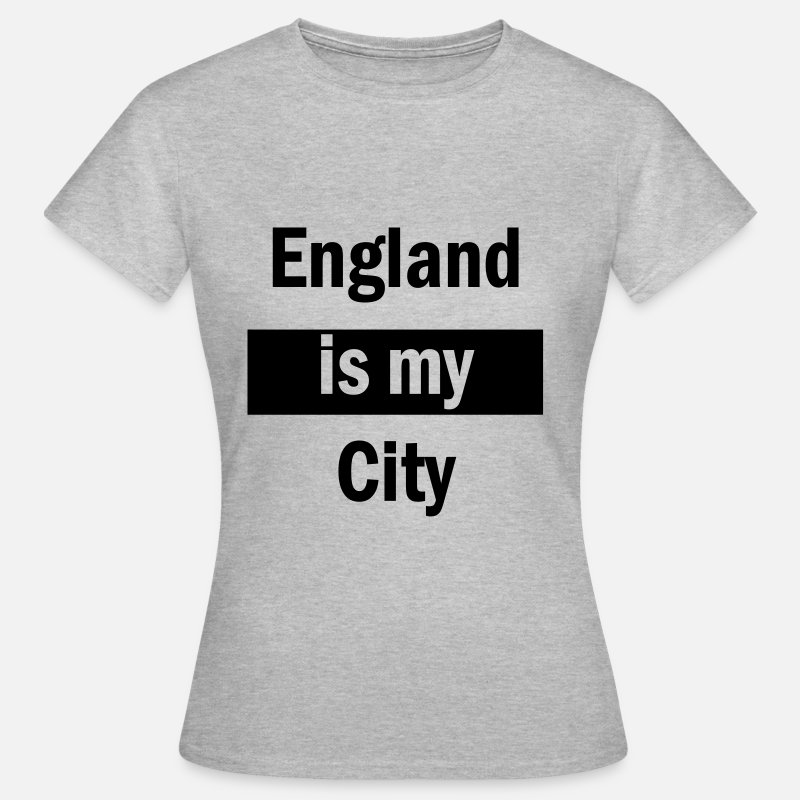 England T-Shirts - england is my city - Women's T-Shirt heather grey