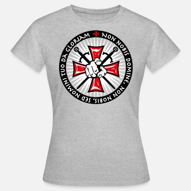 Korsriddare 21 Knight Cross Forefinger Swords Non Nobis - T-shirt dam