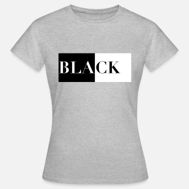 Black And White Black on white - white on black - Women's T-Shirt