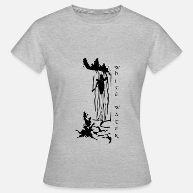 Whitewater Whitewater Kayak - Waterfall Gift Whitewater - Women's T-Shirt