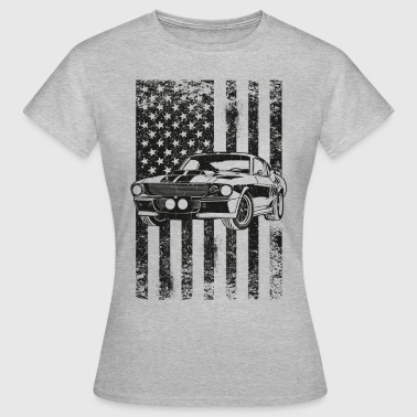 American Flag Muscle Car Toretto Vin Diesel - Dame-T-shirt