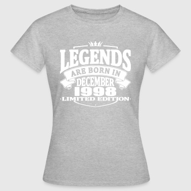 Legends are born in december 1998 - Women's T-Shirt