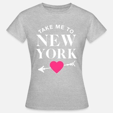 07af41a88fb8 Bébés New York Emmenez-moi à New York - Objectifs du couple - T-. T-shirt  Femme