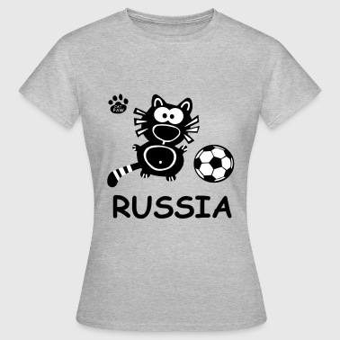 Catpaw Design Kater Katze Russland Party Russia - Dame-T-shirt